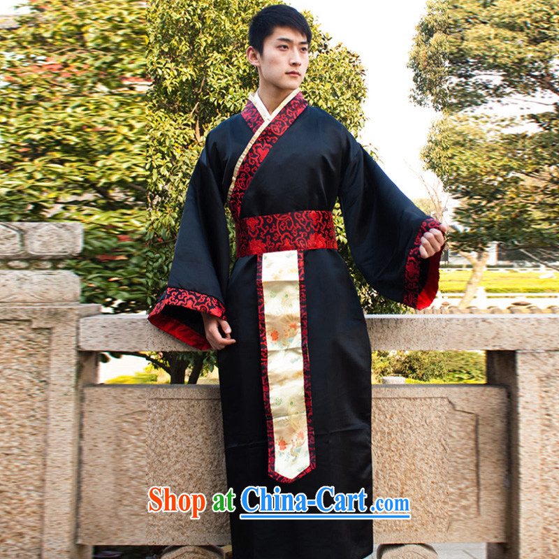 Han dynasty clothing costumes minister Han dynasty clothing company annual service performance costumes male costumes black are code