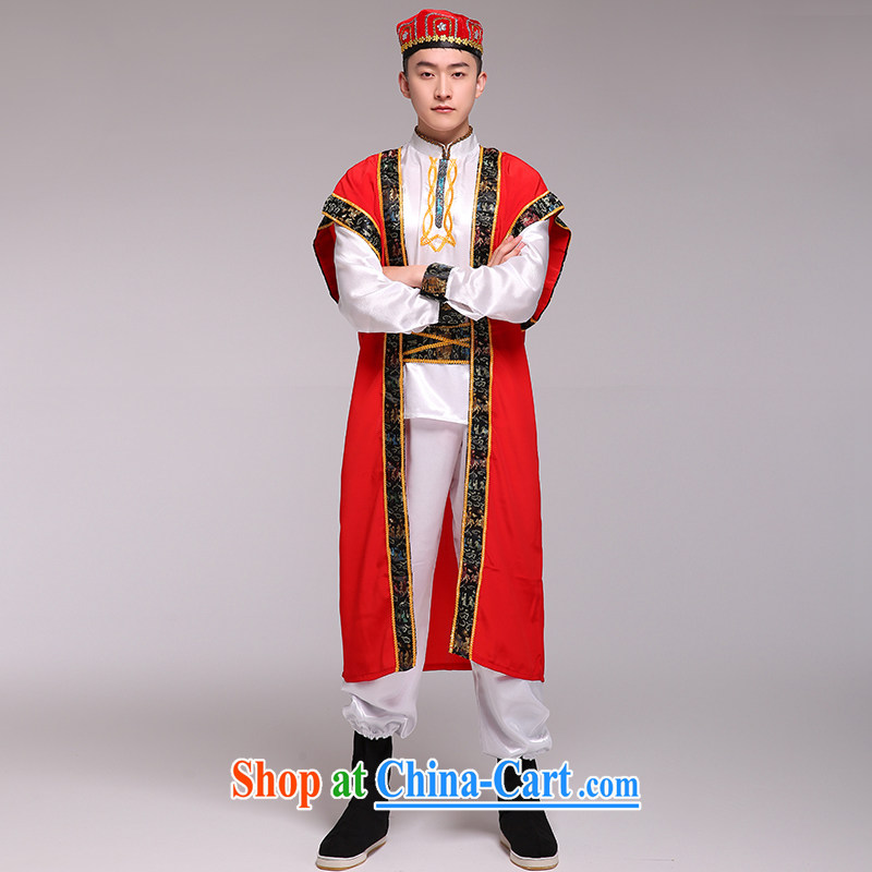 Xinjiang Dance costumes men's Xinjiang ethnic performances stage serving the ethnic performances serve as both code
