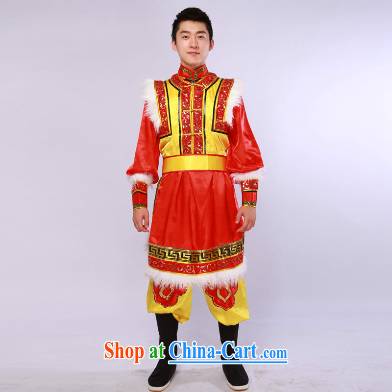 New Mongolian dance clothing and uniforms red costume dancers costumes