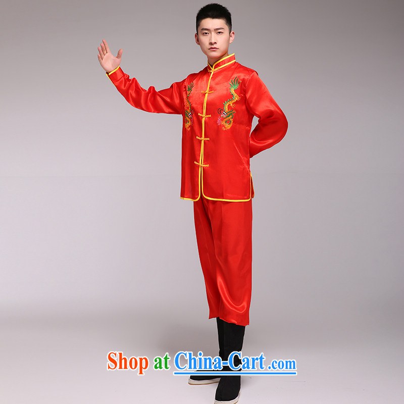 Men's Dragon The Dragon yangko dance costumes Dragon TA spend Car Show 轿夫 red are code