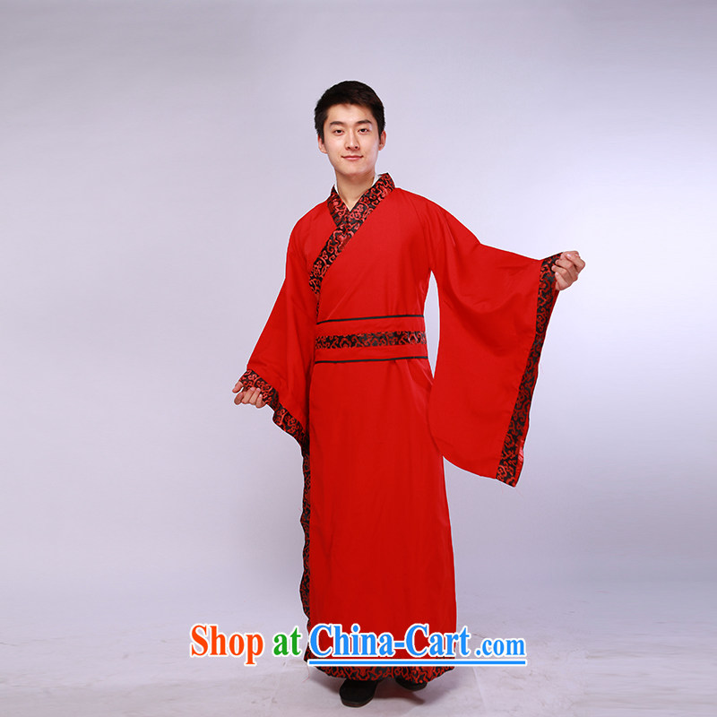 Chinese clothing, clothing wedding dresses Chinese groom men's black and red is by no means the US has always followed the US people of classical dark red are code