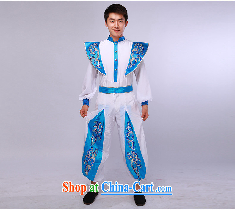 Men's modern dance costumes Han Chinese theatrical dance service annual service performance service blue-and-white 175/92 (L) pictures, price, brand platters! Elections are good character, the national distribution, so why buy now enjoy more preferential! Health
