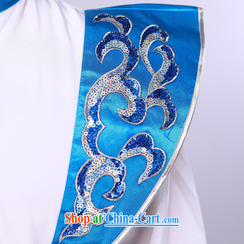 Men's modern dance costumes Han Chinese theatrical dance service annual service performance service blue-and-white 175/92 (L), music, and shopping on the Internet
