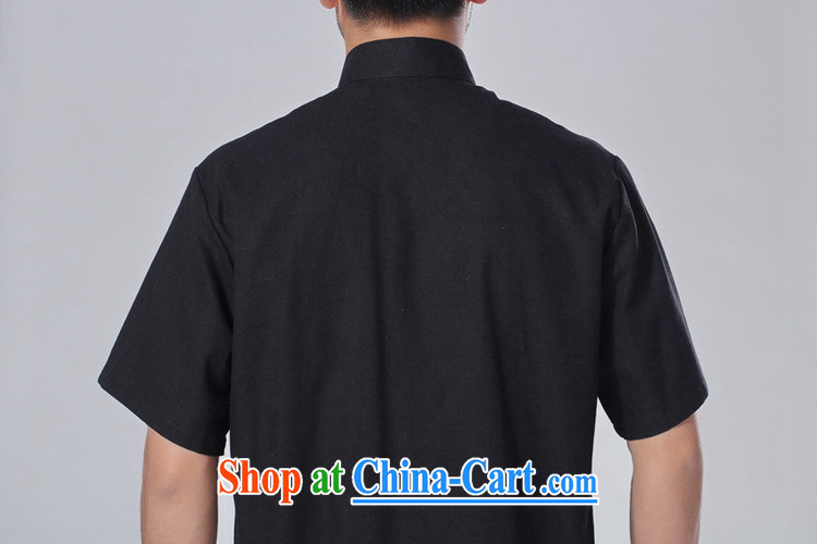 According to fuser summer new male Ethnic Wind improved shirt collar, single-button embroidered Dad load short-sleeved Chinese T-shirt LGD/M 0057 #3 XL pictures, price, brand platters! Elections are good character, the national distribution, so why buy now enjoy more preferential! Health