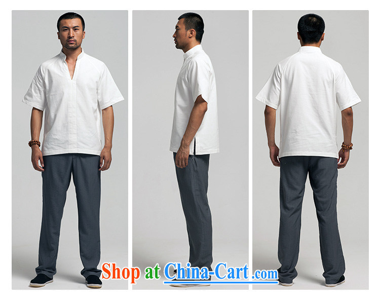 Ask a vegetarian (the health of spring, new Chinese men's cotton muslin, collared T-shirt 1385 light gray XXXL pictures, price, brand platters! Elections are good character, the national distribution, so why buy now enjoy more preferential! Health