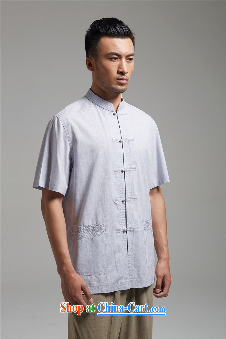 Ask a vegetarian (and as soon as possible with the new summer, Chinese cotton the Commission, for the charge-back men's shirts 1384 light gray XXXL pictures, price, brand platters! Elections are good character, the national distribution, so why buy now enjoy more preferential! Health