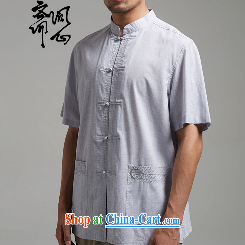 Ask a vegetarian (and as soon as possible with the new summer, Chinese cotton the Commission, for the charge-back men's shirts 1384 light gray XXXL, ask heart Id al-Fitr, shopping on the Internet