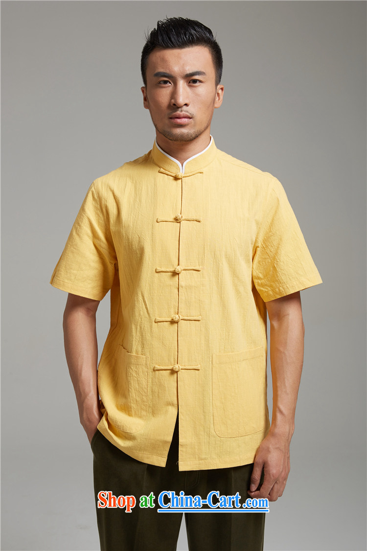 Ask a vegetarian (the health of spring loaded new Chinese male, for cotton quality color the T-shirt 1394 yellow XXXXL pictures, price, brand platters! Elections are good character, the national distribution, so why buy now enjoy more preferential! Health