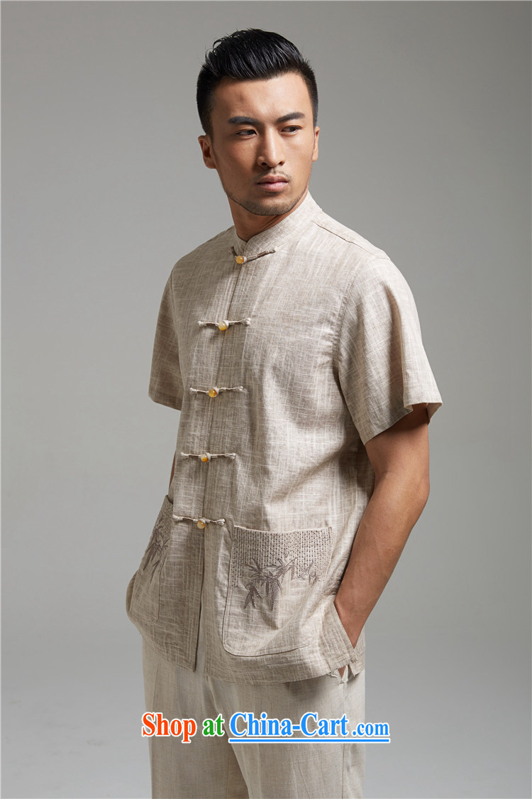 Ask a vegetarian (and health and new summer, the charge-back embroidery linen Chinese Chinese improved T-shirt 1421 gray XXXXL pictures, price, brand platters! Elections are good character, the national distribution, so why buy now enjoy more preferential! Health