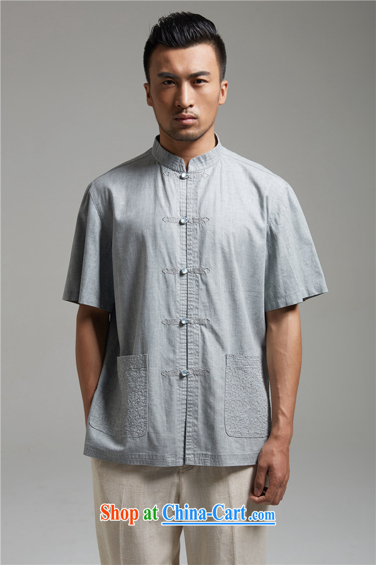 Ask a vegetarian (and as soon as possible, and new summer products embroidery t-shirt with short sleeves improved Tang fitted T-shirt 1440 gray-blue XXXL pictures, price, brand platters! Elections are good character, the national distribution, so why buy now enjoy more preferential! Health