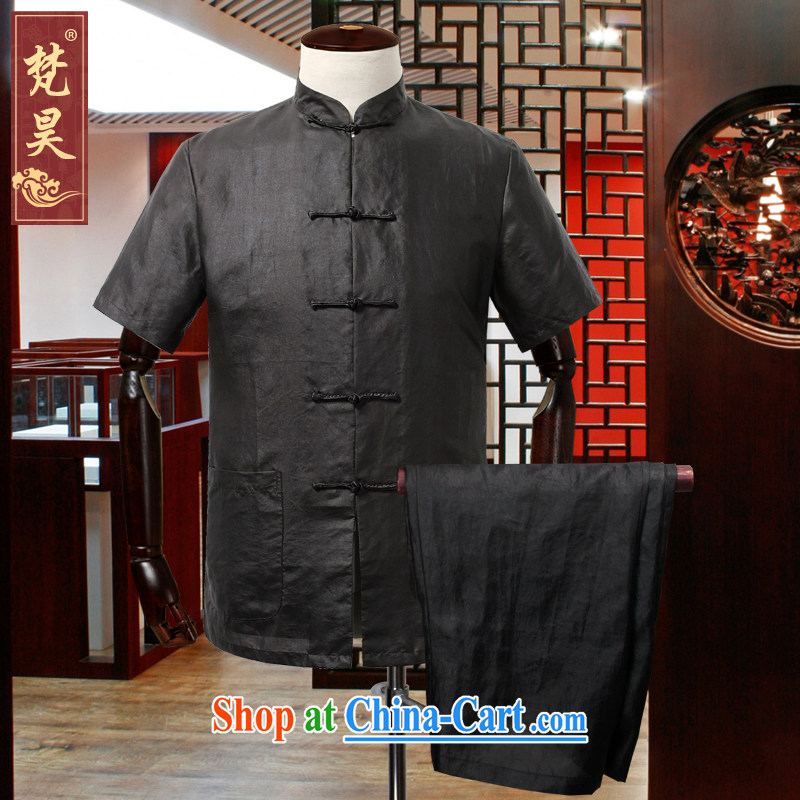 Van Gogh's Ho Tang on the package of high-summer new Hong Kong cloud yarn shirt Father's Day Gift TDX 09 flat black 3XL