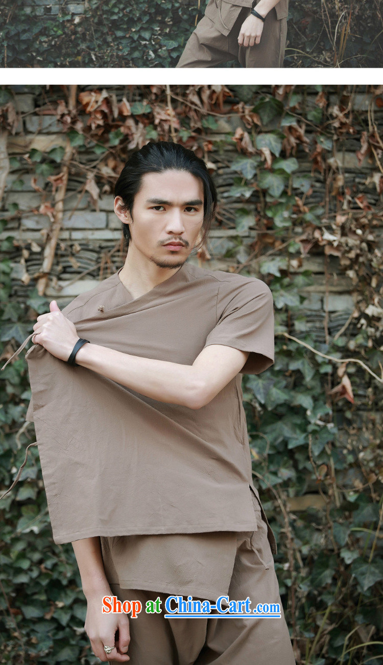Dan Jie Shi 2015, served new ramp flap Chinese cotton the Chinese home service relaxed male Chinese wind-charge-back short-sleeved shirt white M pictures, price, brand platters! Elections are good character, the national distribution, so why buy now enjoy more preferential! Health