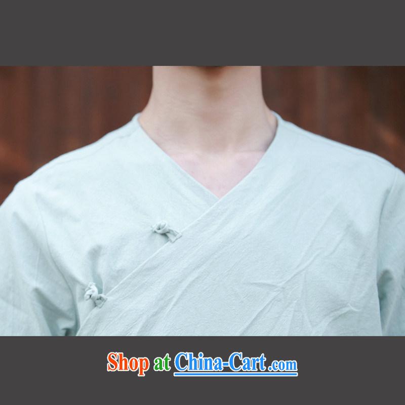 Dan Jie Shi 2015, served new ramp flap Chinese cotton the Chinese home service relaxed male Chinese wind-tie short sleeved T-shirt white M, Dan Jie Shi (DANJIESHI), online shopping
