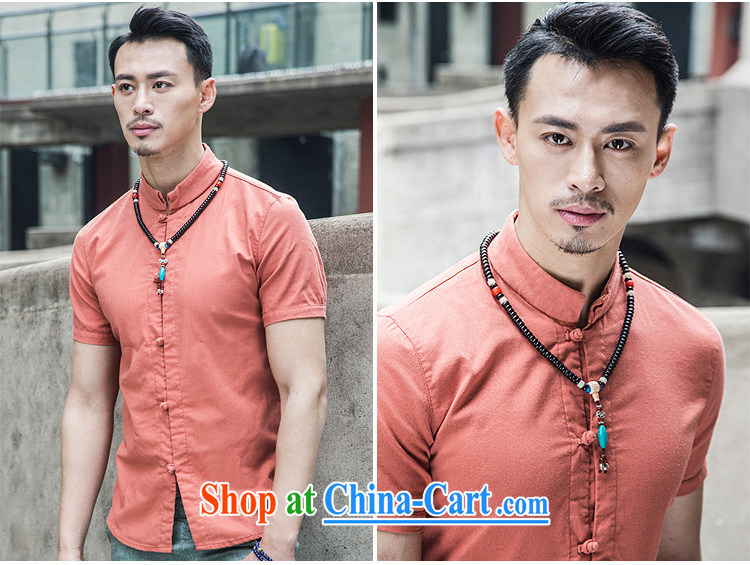 Linen shirt men's short-sleeve and collar summer China wind men's national-buckle cotton linen Solid Color beauty original design Chinese YQ TKKY 8 008 dark gray XL pictures, price, brand platters! Elections are good character, the national distribution, so why buy now enjoy more preferential! Health