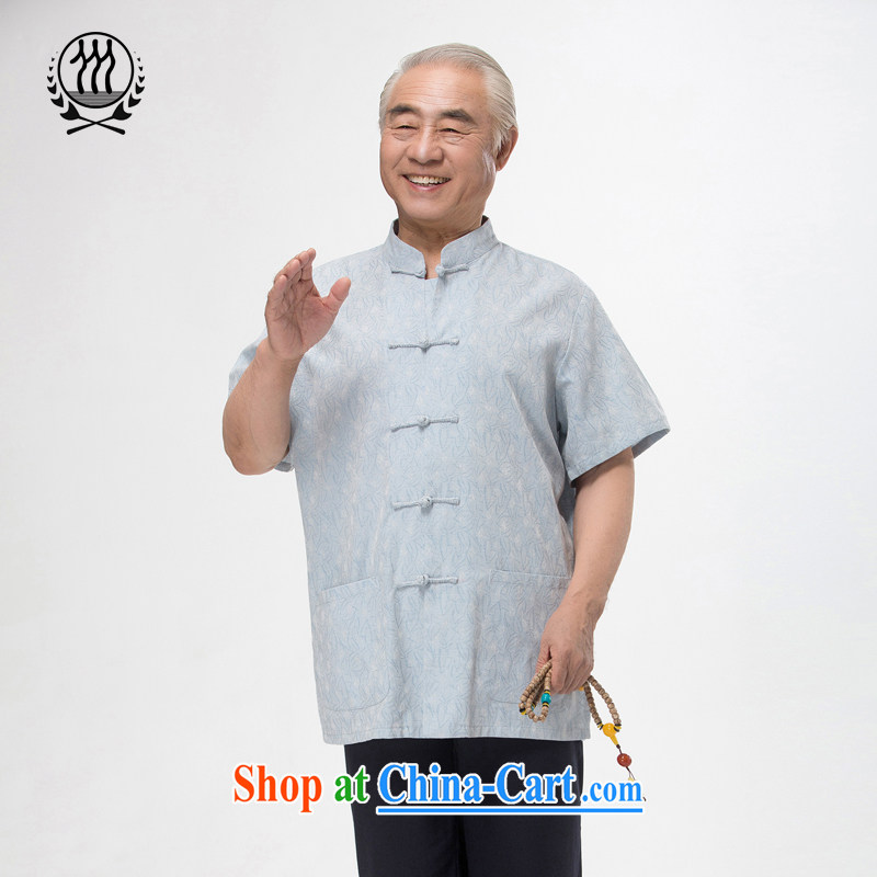 and mobile phone line 15 new summer Chinese men and replacing the older Chinese men and Chinese package national dress boutique blue beige light gray optional 2 color XXXL/190, and mobile phone line (gesaxing), and, on-line shopping