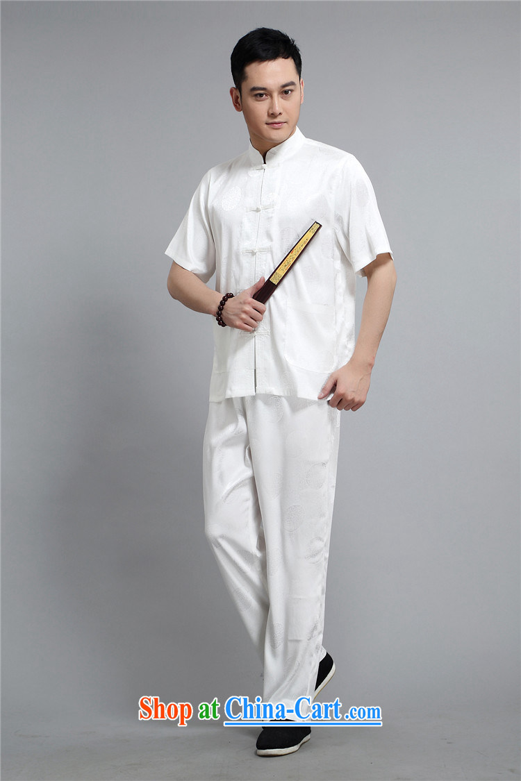 The 2015, middle-aged men with short T-shirt with short sleeves, older men's Summer Package white 4XL/190 pictures, price, brand platters! Elections are good character, the national distribution, so why buy now enjoy more preferential! Health