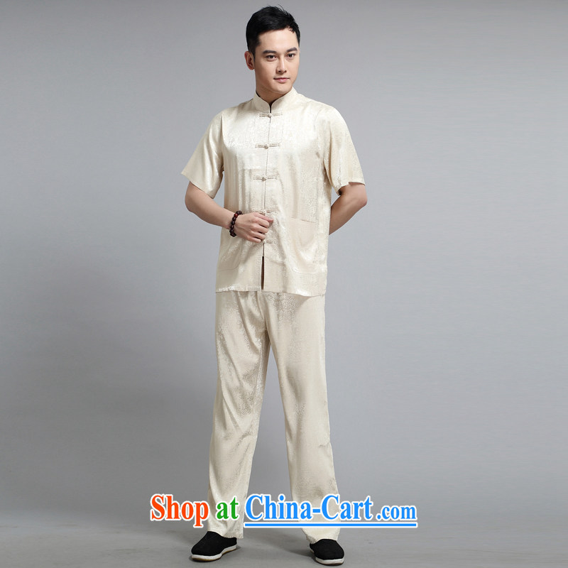 Chinese men and short-sleeve kit summer new, older men's cotton the male, Tang with morning exercise clothing exercise clothing Tai Chi's father served with 1501 Wong Kit 180, JACK EVIS, shopping on the Internet