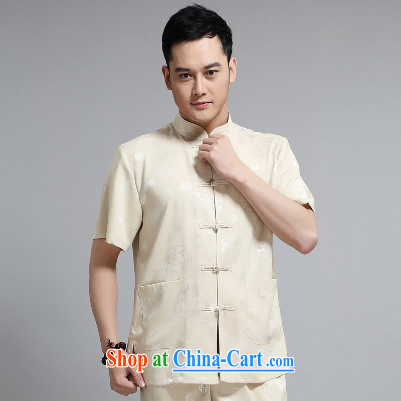 Chinese men and short-sleeve kit summer new, older men's cotton the male, Tang with morning exercise clothing exercise clothing Tai Chi uniforms with his father in 1502 suite 170, JACK EVIS, shopping on the Internet