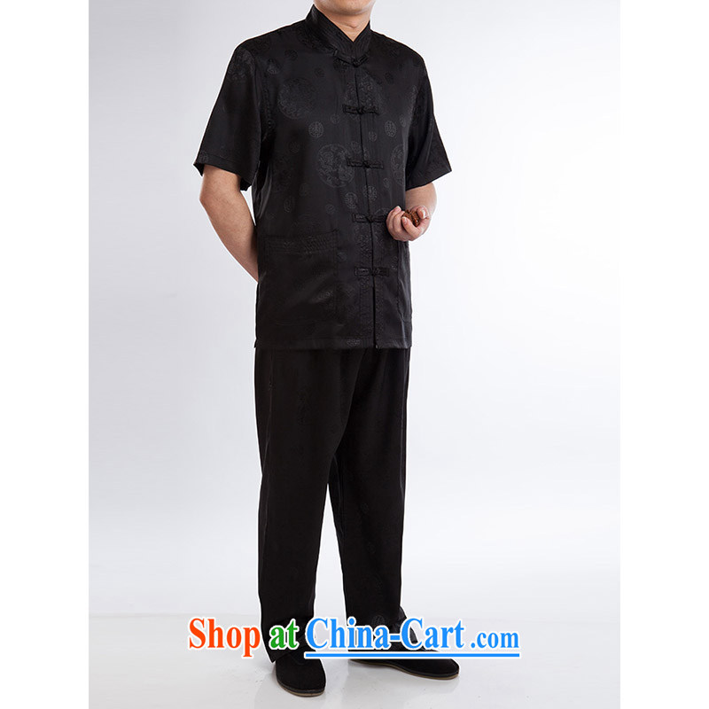 100 brigade Bailv summer stylish thin disk for casual, short-sleeved comfortable elasticated trousers men's kit black 190,100 brigade (Bailv), online shopping
