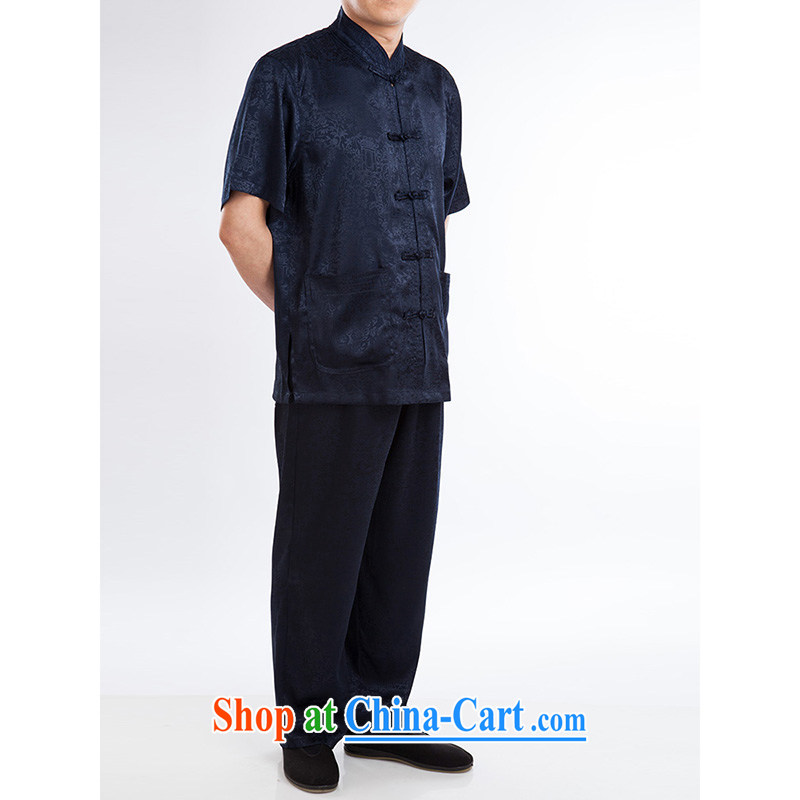 100 brigade Bailv summer stylish thin disk for casual, short-sleeved comfortable elasticated trousers men's kit dark blue 190,100 brigade (Bailv), and, on-line shopping