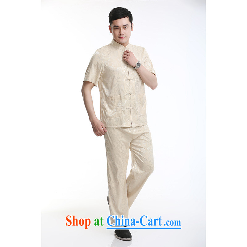 100 brigade Bailv summer stylish thin disk for casual, short-sleeved and comfortable elasticated trousers men's kit pale yellow 190,100 brigade (Bailv), and, shopping on the Internet