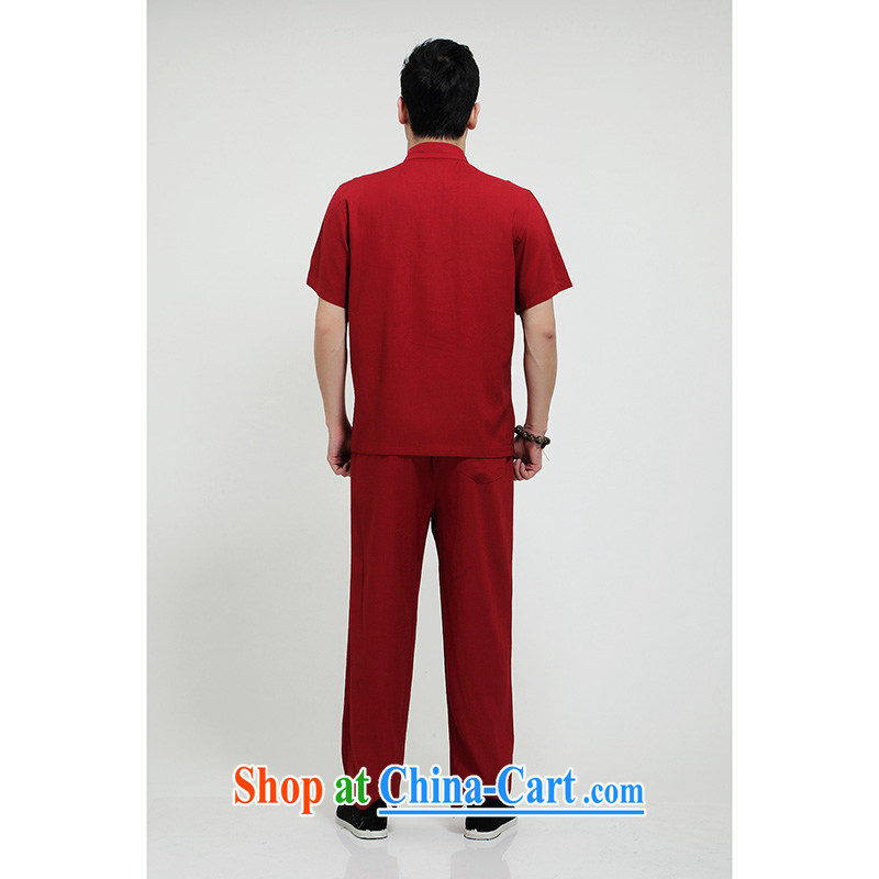 100 brigade Bailv summer stylish thin disk for casual, short-sleeved comfortable elasticated trousers men's package deep red 190,100 brigade (Bailv), online shopping