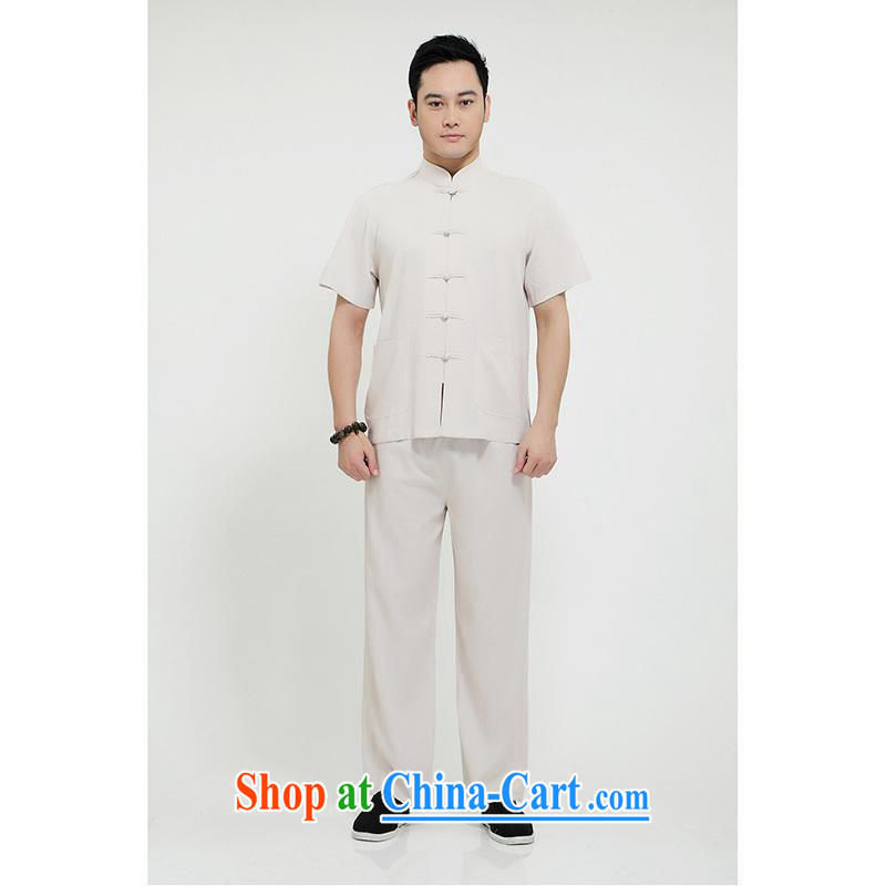 100 brigade Bailv summer stylish thin disk for casual, short-sleeved comfortable elasticated trousers men's package white 190