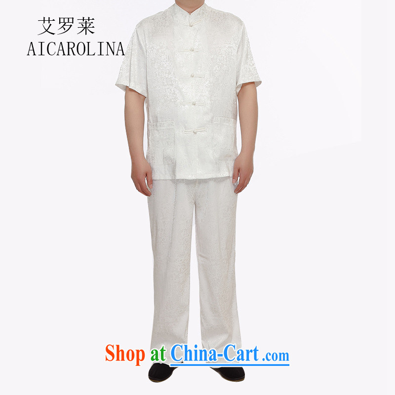 The Carolina boys new in summer, Mr Henry Tang, replace older package the code father with a short-sleeved shirt China wind the River During the Qingming Festival men's white XXXXL