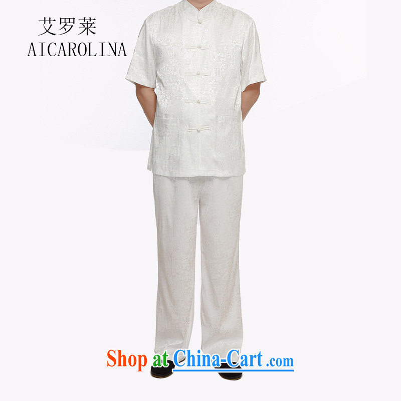 The Carolina boys new in summer, Tang on the older package the code's father with a short-sleeved shirt China wind the River During the Qingming Festival men's white XXXXL, the Tony Blair (AICAROLINA), shopping on the Internet