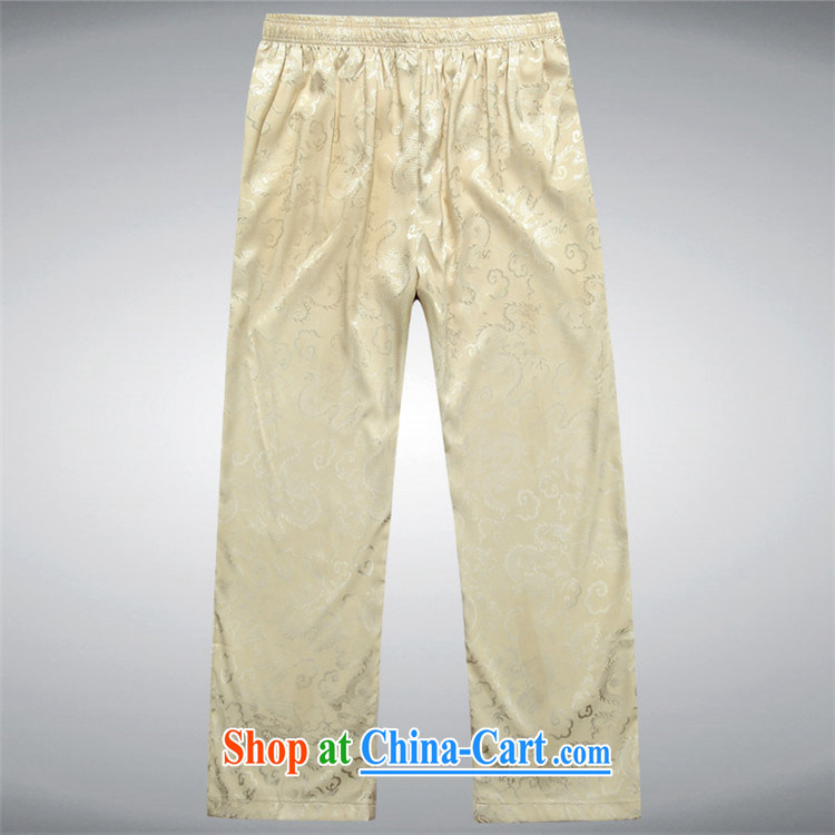 kyung-ho covered by Chinese fabric spring loaded Tang men short pants trousers with Tang multi-colored practice pants older persons beige XXL pictures, price, brand platters! Elections are good character, the national distribution, so why buy now enjoy more preferential! Health