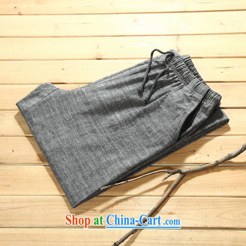Tibetan silk manuscripts summer 2015 men's cotton the trousers gray 156,007 170/M