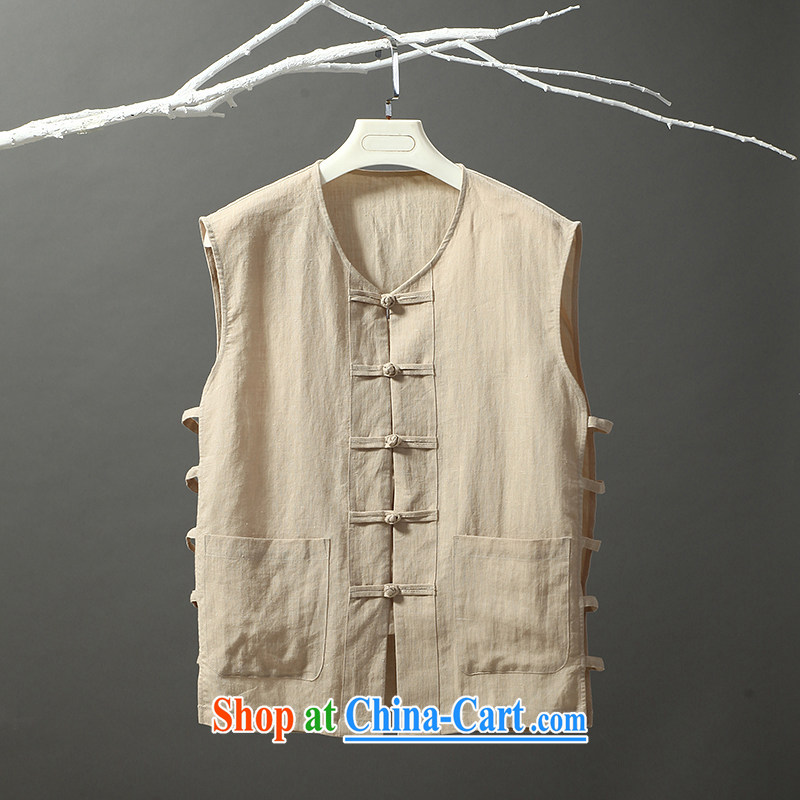 Tibetan silk manuscripts summer traditional vests use a T-shirts yellow 190/XXXL