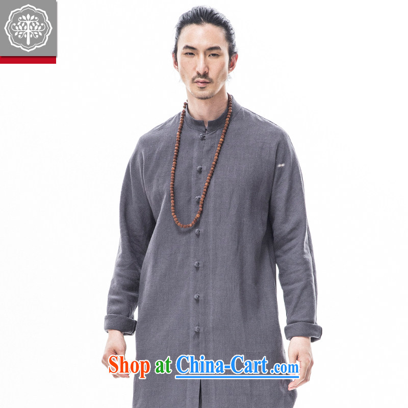 To tree, served improved long-sleeved jacket cotton Ma Man, long, short on China wind gray 185/XXL, tree (EYENSREE), shopping on the Internet
