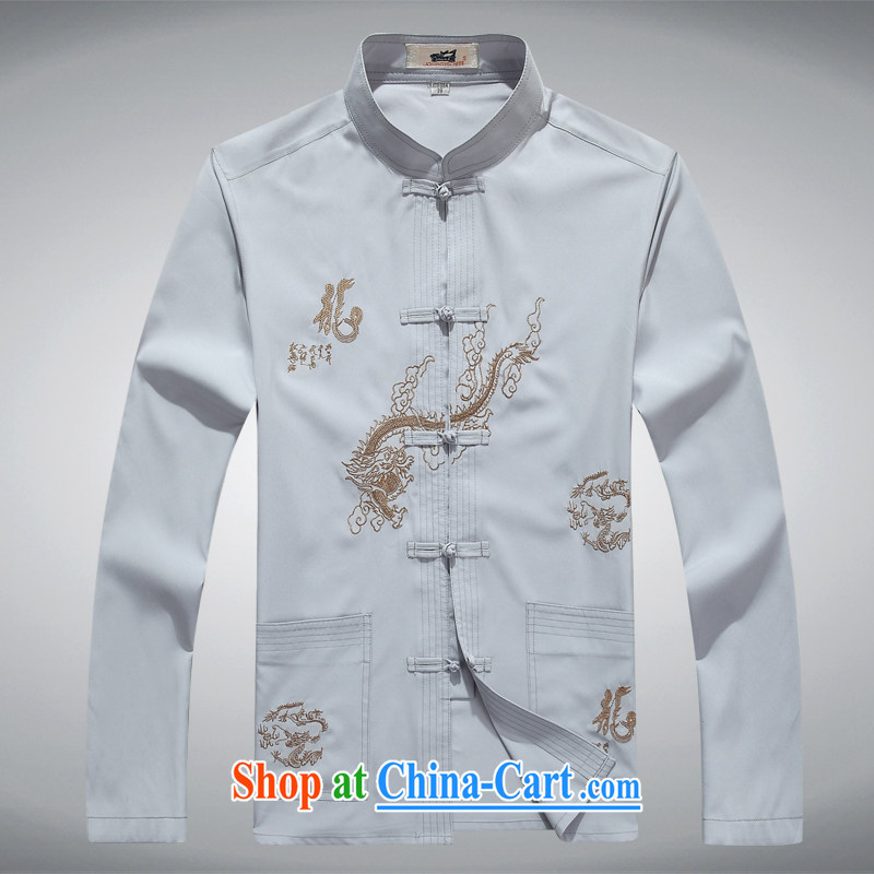 100 brigade Bailv summer stylish thin disk for leisure short-sleeve and collar comfortable flower T-shirt sky blue 190