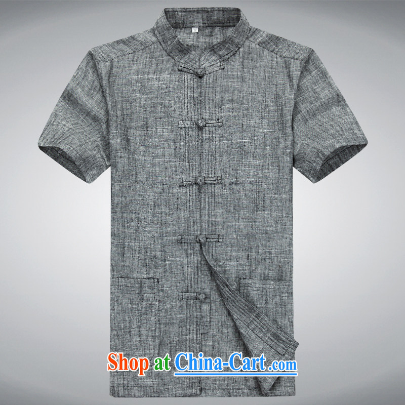 100 brigade Bailv summer stylish thin disk for leisure short-sleeve and collar comfort T-shirt gray XXXL
