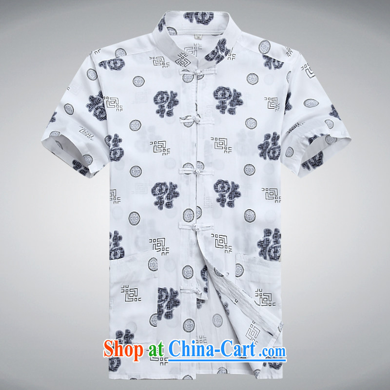 100 brigade BaiLv summer stylish thin, for comfortable short-sleeved tray snap leisure spend T-shirt white?XXXL