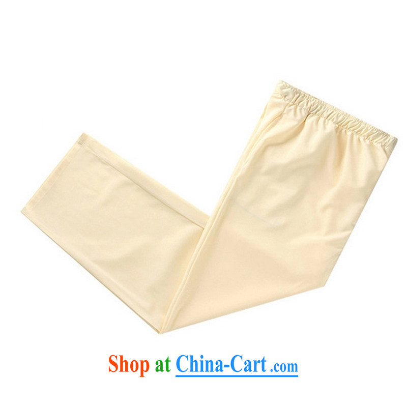 2015 new smock Tang replace summer father pants pants men's national wind trousers YYY 1259 YZ Cornhusk yellow XXXL