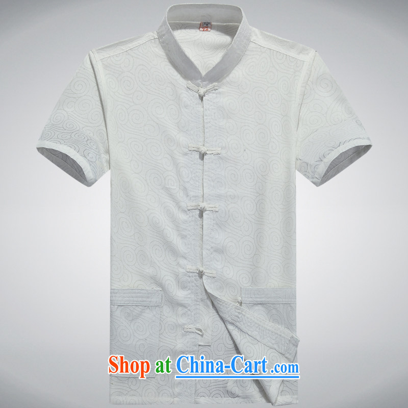 100 brigade BaiLv summer stylish thin, for comfortable short-sleeved-tie Casual Shirt white 190