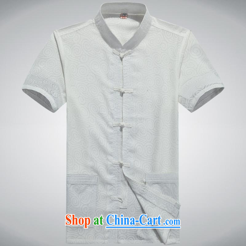 100 brigade BaiLv summer stylish thin, for comfortable short-sleeved-tie Casual Shirt white 185