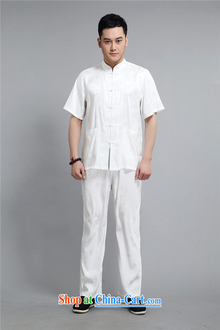 kyung-ho summer covered by men Chinese men's short-sleeve kit, old cotton Shuxin, served my grandfather father with China wind white 4XL pictures, price, brand platters! Elections are good character, the national distribution, so why buy now enjoy more preferential! Health
