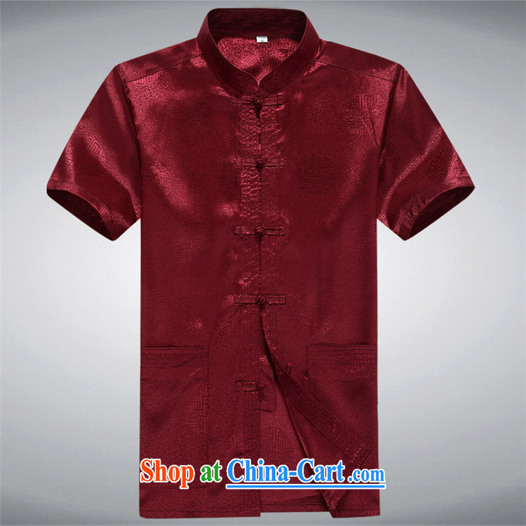 The Luo, middle-aged men's short-sleeved Chinese China wind middle-aged men's short-sleeved Chinese T-shirt white XXXL pictures, price, brand platters! Elections are good character, the national distribution, so why buy now enjoy more preferential! Health
