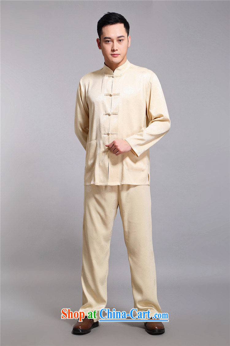 kyung-ho covered by men's Tang is set long-sleeved cuff older people in men's T-shirt Dad Grandpa pants summer jackets T-shirt gold 4 XL pictures, price, brand platters! Elections are good character, the national distribution, so why buy now enjoy more preferential! Health