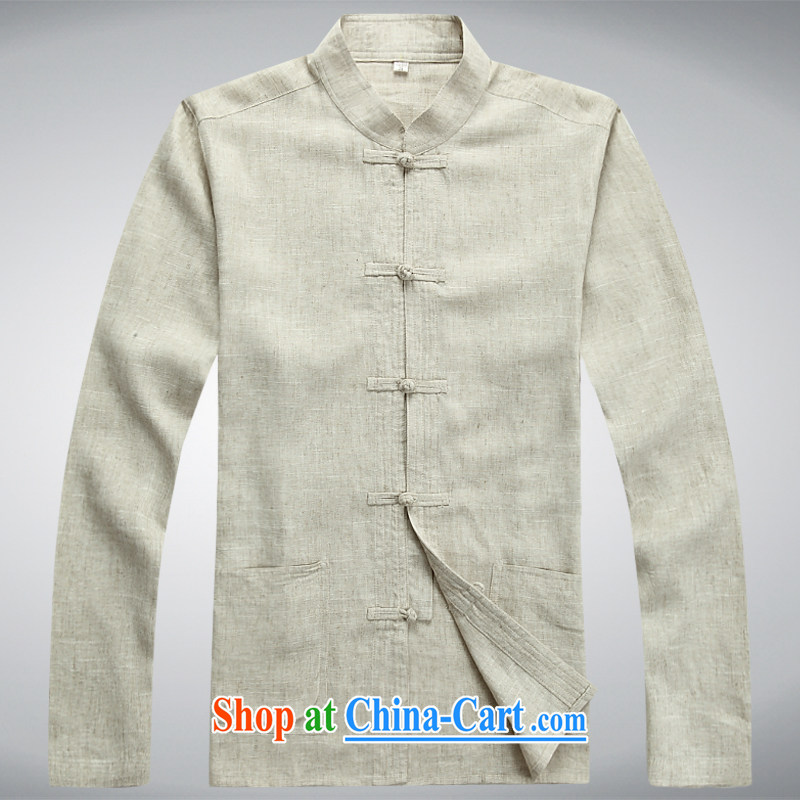 100 brigade BaiLv summer stylish thin, for comfortable long-sleeved tray snap leisure Package white XXXL