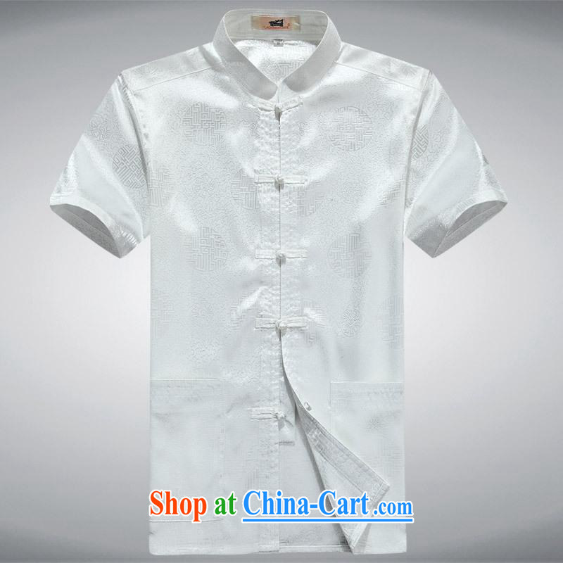 100 brigade BaiLv summer stylish thin, for comfortable short-sleeved-tie Casual Shirt white 170
