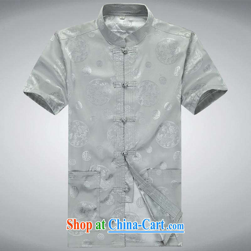 100 brigade BaiLv summer stylish thin, for comfort and short-sleeved tray snap Leisure package light gray XXXL, 100 brigade (Bailv), shopping on the Internet