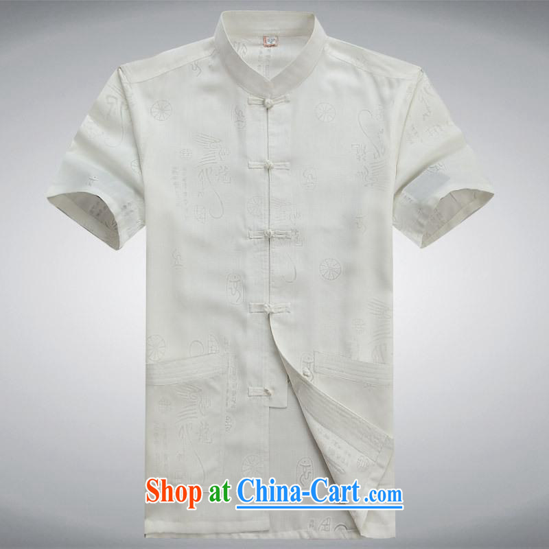 100 brigade BaiLv summer stylish thin, for comfortable short-sleeved-buckle Casual Shirt white L