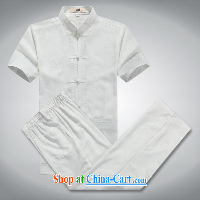 100 brigade Bailv summer stylish thin disk for leisure short-sleeve and collar comfort T-shirt white XL