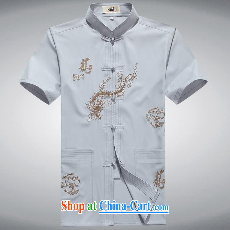 100 brigade Bailv summer stylish thin disk for leisure short-sleeve and collar comfort T-shirt white 180