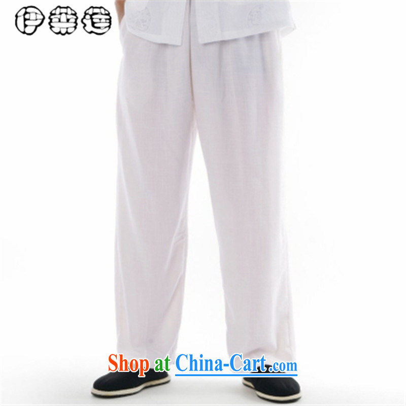 Mr. Lin 2015, Mr Ronald ARCULLI, men with short pants China wind loose the code linen trousers cotton pants the commission retreat father pants with white 31
