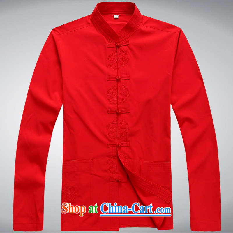 100 brigade BaiLv summer stylish thin, for comfortable long-sleeved tray snap Leisure package red XXL
